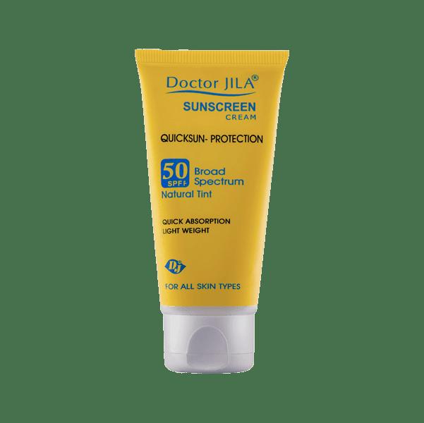کرم ضد آفتاب کوئیک سان-پروتکشن SPF50 رنگی دکتر ژیلا